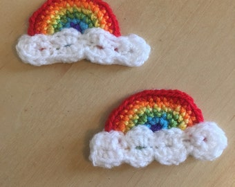 Crochet Rainbow Pin