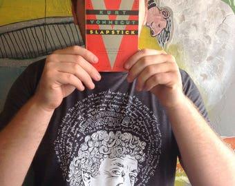 Saint Kurt Vonnegut- Kurt Vonnegut Artist Saint T-Shirt-Dark Heather Gray