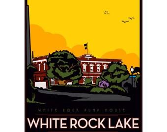 White Rock Lake Framed Art Print