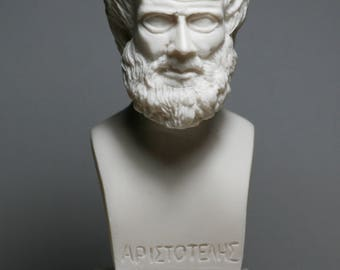 ARISTOTLE Greek Philosopher & Scientist Alabaster Bust Head Statue Sculpture 5.91in - 15cm **Free Shipping - Free Tracking Number**