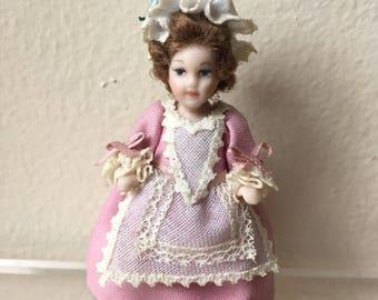 "Dollhouse Miniature Porcelain Doll 1/2"" scale"