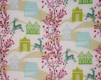 """Fabric 1 Yard  LITTLE FOLKS VOILE Forest Hills Sea Aqua 54/55"""" Wide  Anna Maria Horner Floral Waves Quilting Sewing"""