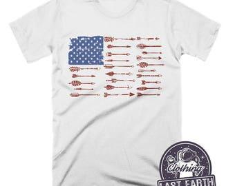 American Flag Shirt Vintage T Shirt 4th of July Shirt Patriotic Tshirt Arrow Shirt Mens Tshirt Womens Graphic Tees Kids 4th of July Shirt