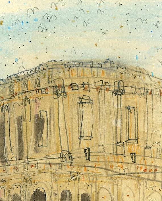 ROME COLOSSEUM Italy Art Print Rome Wall Art 8 x 10 inch
