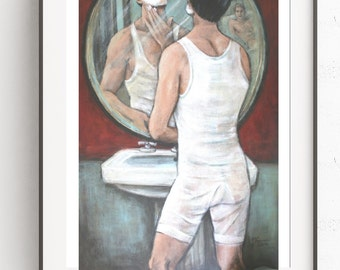 Morning After~Gay Art ~Digital Art~Printable Art~INSTANT DOWNLOAD