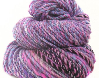 handdyed handspun superwash Merino wool tencel yarn