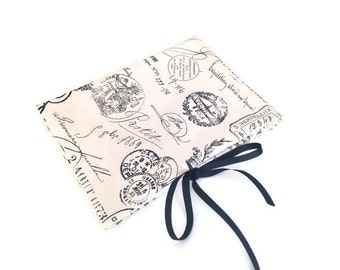 Circular Needle Organizer Black French Toile Fabric Folding Needle Case Knitting Needle Storage Case with 12 Pockets French Icons