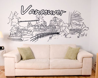 Vinyl Wall Decal Sticker Vancouver 1400s