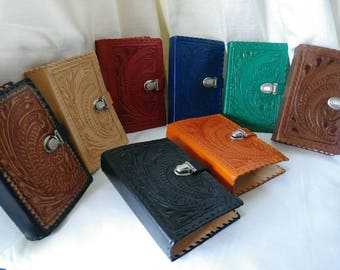 JWBible Leather Cover  SNAIL Embossed for NWT 2013 revised edition, regular-medium size, with metalic clip lock. Handmade.