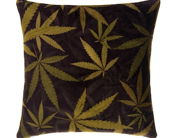 "Leafy Greens 18""x18"" Square Pillow"