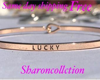 Inspired  ( lucky)thin hook bracelet