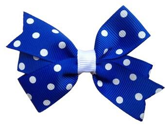 Girls hair bows - blue hair bow, hair bow, hair bows for girls, toddler hair bows, baby bows, baby hair bows, bows, pigtail bows, hairbows