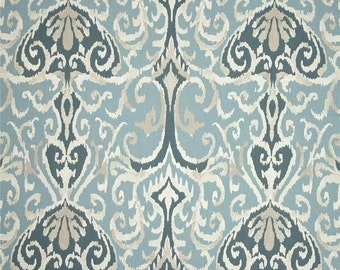 Winchester Spa cotton fabric ikat by the yard Magnolia Home Fashions