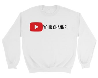 Custom YouTube Channel Sweatshirt Qx2x0bAv