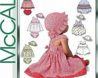 BABY CLOTHES PATTERN / Sundress - Hat with Ruffle - Panties - Romper / 6 to 18 Months / Summer Clothes