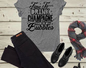 Champagne shirt, Cheers shirt, Holiday Tee, Christmas shirt, Holiday Shirt, Christmas party, New Year's Eve Tee,  Holiday Outfit