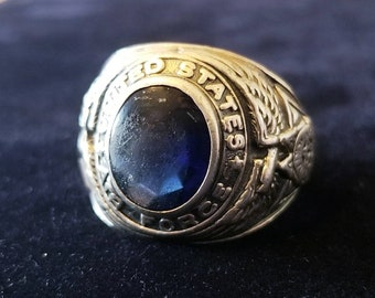 Sterling Silver WW2 Era United States Air Force Ring