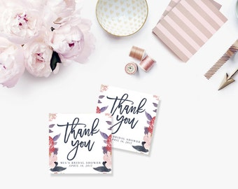 Printable Bridal Shower Gift Tags / Customized Favor Tags, Thank You Tags  - Mia Isabella Tags