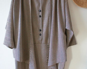 Unique Layered Shirt kimono dress