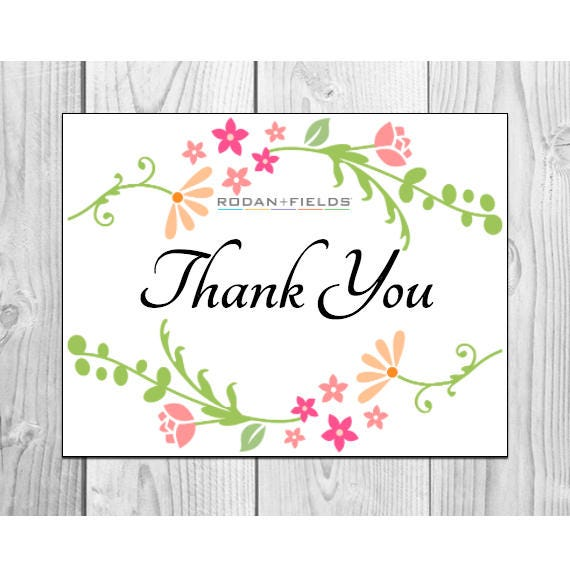 Rodan And Fields Thank You Cards Prints 2 Per Sheet Avery 8315
