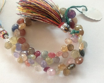 Umba Sapphire heart briolettes 2 inch strand