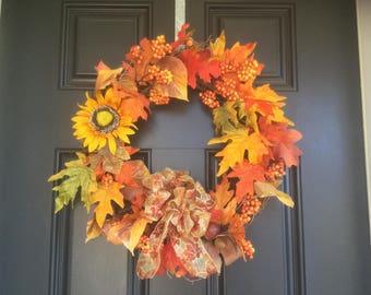 Fall wreath, grapevine