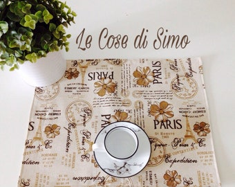 Paris print Placemat.