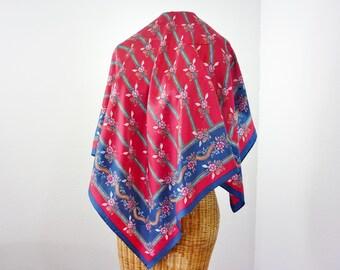 Vera Neumann des années 60 foulard japonais Cherry Blossom carrée en soie neuf