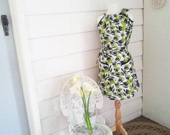 Pillowcase Dress Women's, Pocket Dresses, Olives Dresses, Halter Neck Dresses,Pockets with Lace, Australian Made, Made to Order, Custom Made