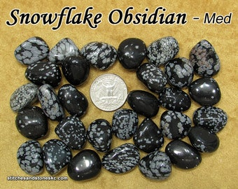 Snowflake Obsidian (medium) tumbled stone for crystal healing