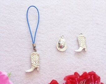10 Minimalist style - Western Zipper Pull Party Favors. Cowboys and Cowgirls. Boots and Hats