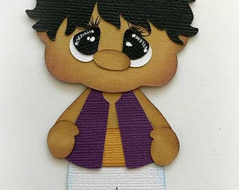 Prince Aladdin boy  cartoon premade paper piecing 3d die cut by my tear bears kira