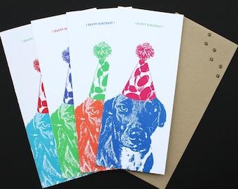 Custom Birthday Cards Featuring Your Pet - CAT, DOG, Custom Pet Portrait