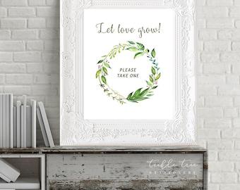 Let Love Grow Printable Sign - Breezy Leaf (13701)