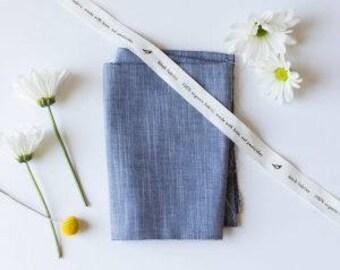Dusk Organic Yarn-Dyed Chambray, Birch Fabrics, Certified Organic Cotton