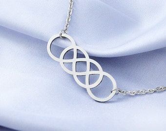 Double infinity etsy quick view double infinity necklace aloadofball Image collections