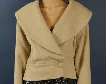 Vintage Camel wool coat- Hobbs -1950's style