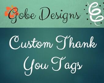 Custom Thank You Tags