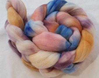 Also Peach Schnapps - Merino/Nylon hand dyed roving