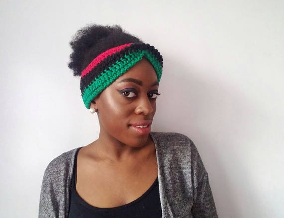 Afrocentric Womens Headband - RBG Headband for Her - Gifts for Girlfriend - Best Friend Gift - Cute African Clothing - Kwanzaa Gift for Her