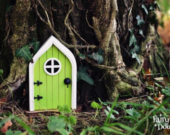Fairy Door u0027Marau0027 in Green - Green Fairy door - Fairy door for tree - Miniature door - Fairy garden - Fairytale door - Tooth Fairy door & Fairy Door u0027Marau0027 in Pink Pink Fairy door Fairy