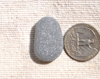 Perfect Pendant-Sized Grey Sea Glass Nugget, Very Rare Genuine Seaglass, Jewellery Supplies, Surf-Tumbled, Gray Beach Glass