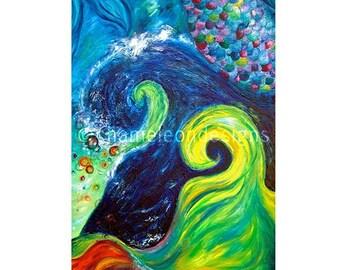 Poseidon Original Oil Painting Print (Instant Download)