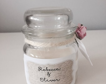 Personalised Wedding Candle Gift / Favour