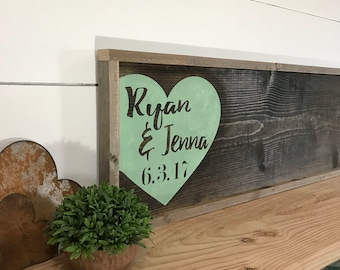 Rustic Wedding Guest Book Alternative - Rustic Mint Wedding Sign - Custom Wedding Guestbook - Personalized Wedding Sign - Wedding Signs