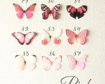 pink silk butterflies . 1-4 hair clips, pins, magnets . your choice . birthday gift, wedding, bridesmaids, parties, everyday . handmade