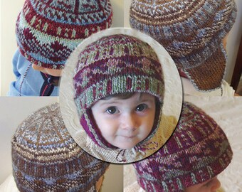 "FUNDRAISER - Reversible baby bib (""KWBTSF Hat"") knitting pattern (PDF)"