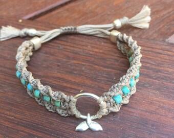 adjustable macrame bracelet, boho bracelet,beach bracelet,beaded yoga bracelet,whale tail bracelet,silver charm bracelet,frienship bracelet,