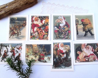 Christmas Cards  Unused  Greeting Cards Holiday  - Set of 8 cards.
