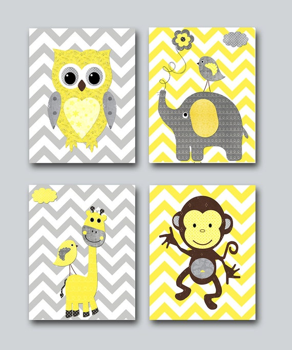 Baby Girl Nursery Print Baby Room Decor Monkey Kids Wall Art